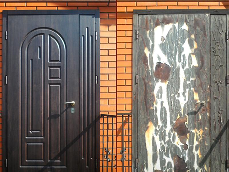 Чем можно обновить железную дверь с фото